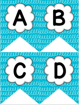 Blue & White Swirl Decor Pack