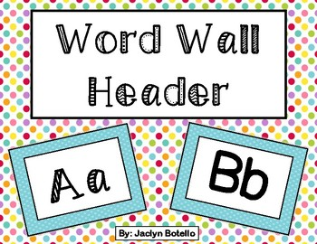 Blue Word Wall Header