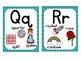 Word Wall Labels & Alphabet Chart {Blue Lattice}