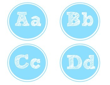 Blue Word Wall Letters