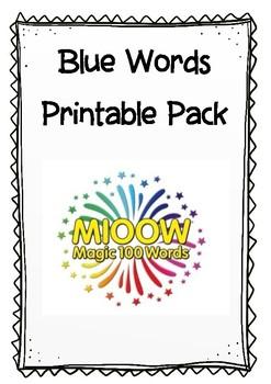 Blue Words Pack