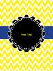 Blue & Yellow Binder Covers (editable)