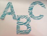 "Blue Zebra 4"" laminated alphabet 78 pcs"