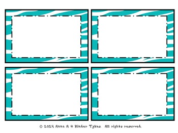 Blue Zebra Labels by Kinder Tykes