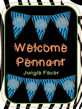 Blue Zebra Welcome Pennant