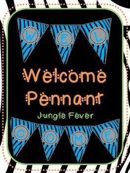Blue Zebra Welcome Pennant