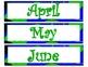 Blue Zingy Dot Calendar Display