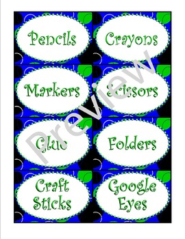 Blue Zingy Dot Supply Labels