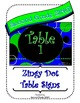 Blue Zingy Dot Table Signs