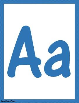 Blue alphabet poster and desk plates!