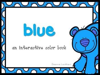Blue-an interactive color book