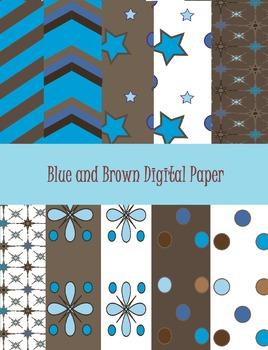 Blue and Brown Digital Paper