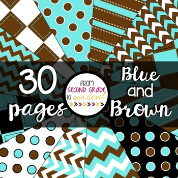 Blue and Brown Digital Paper