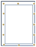 Blue and Gold Border