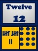 Blue and Gold Number Chart Numbers 0-20