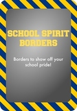 Blue and Gold / Yellow - School Spirit Borders 4 Pack