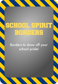 Blue and Gold / Yellow - School Spirit Borders 9 Pack