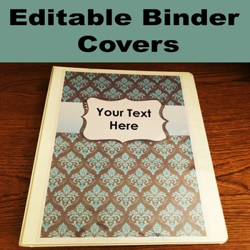 Blue and Gray Binder Covers and Spines Editable