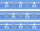 Blue and Gray Classroom Number Line Decor