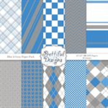 Blue and Gray Paper Pack