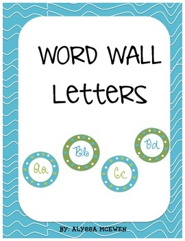 Blue and Green Alternating Word Wall Letters