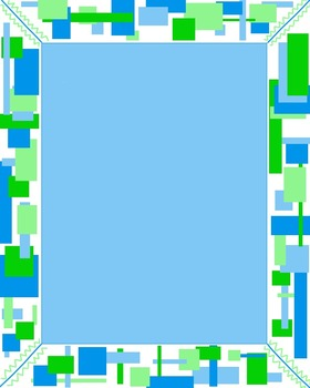 Blue and Green Background Papers and Clip Art
