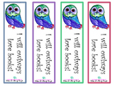 Owl Bookmark Blue and Green