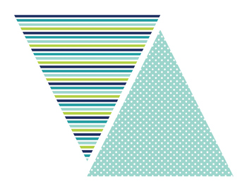 "Blue and Green Bunting ""READ"" Freebie"