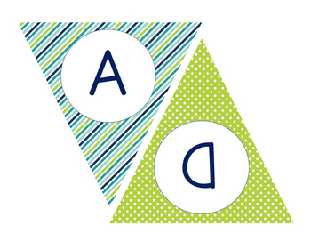 """Blue and Green Bunting """"READ"""" Freebie"""