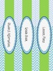 Blue and Green Chevron Binder Covers