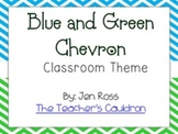 Blue and Green Chevron Classroom