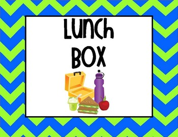 Blue and Green Chevron Frog Themed Attendance and Lunch Clip Chart
