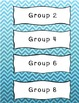 Blue and Green Chevron Labels