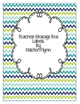 Blue and Green Chevron Teacher Toolbox Labels