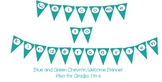 Blue and Green Chevron Welcome Banner