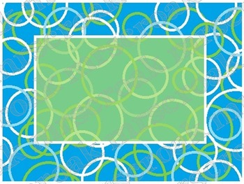 FREE - Labels: turquoise & lime circles, 10 per page