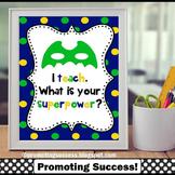 Blue and Green Classroom Decor Superhero Theme Teacher Appreciation Gift Idea