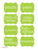 Blue and Green Classroom Labels