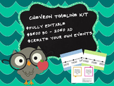 Blue and Green Customizable Chevron Timeline Kit 3500 BC -