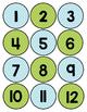 Blue and Green Herringbone Class Numbers