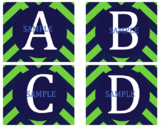 Blue and Green Letters