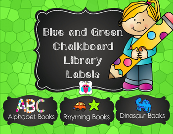 Blue and Green Library Labels