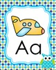 Blue and Green Owl Alphabet Posters  A-Z