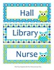 Blue and Green Owl Hall Passes