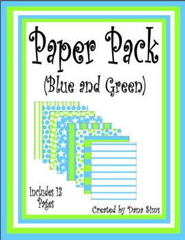 Blue and Green Paper Pack