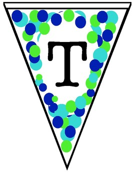 Blue and Green Pennants