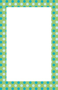 Blue and Green Polka dot Border
