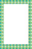 Blue and Green Polka dot Border