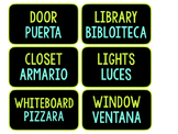 Blue and Green (Spanish) ESL Classroom words