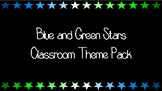 Blue and Green Stars Classroom Theme Pack
